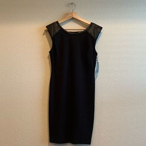Velvet by Graham & Spencer Cap Sleeve Black Dress